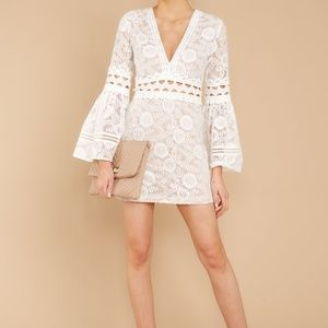 NWT English Factory White Lace Dress